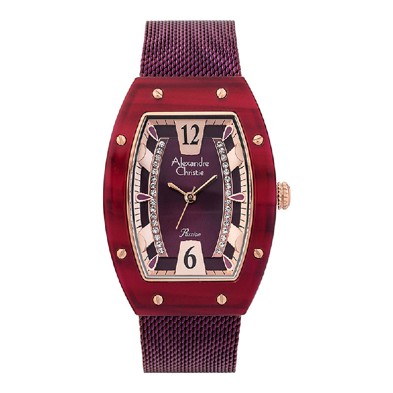 Alexandre Christie Passion AC 2778 LH BRDRE Ladies Purple Dial Purple Stainless Steel