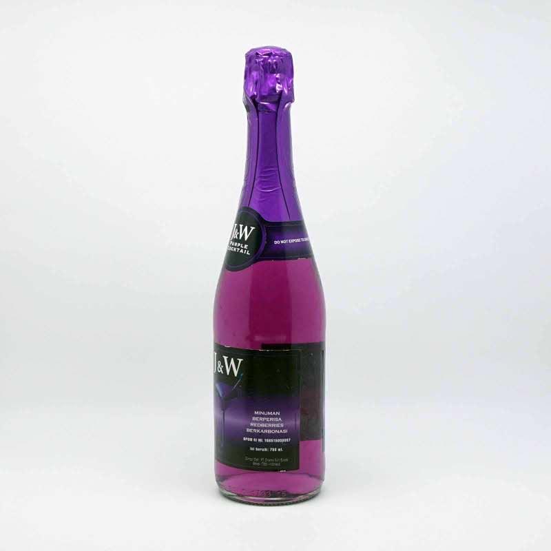J&W Minuman Soda Koktil Ungu 750 Ml
