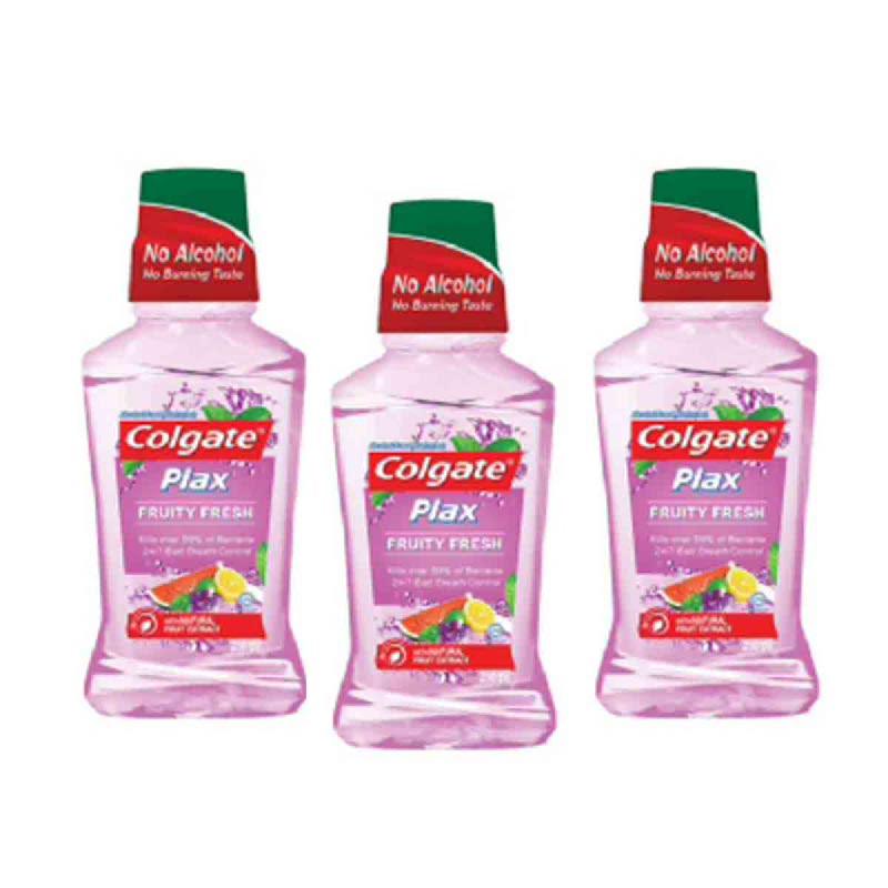 Colgate Mouthwash Plax Fruity Fresh 250M (Buy 2 Get 1)