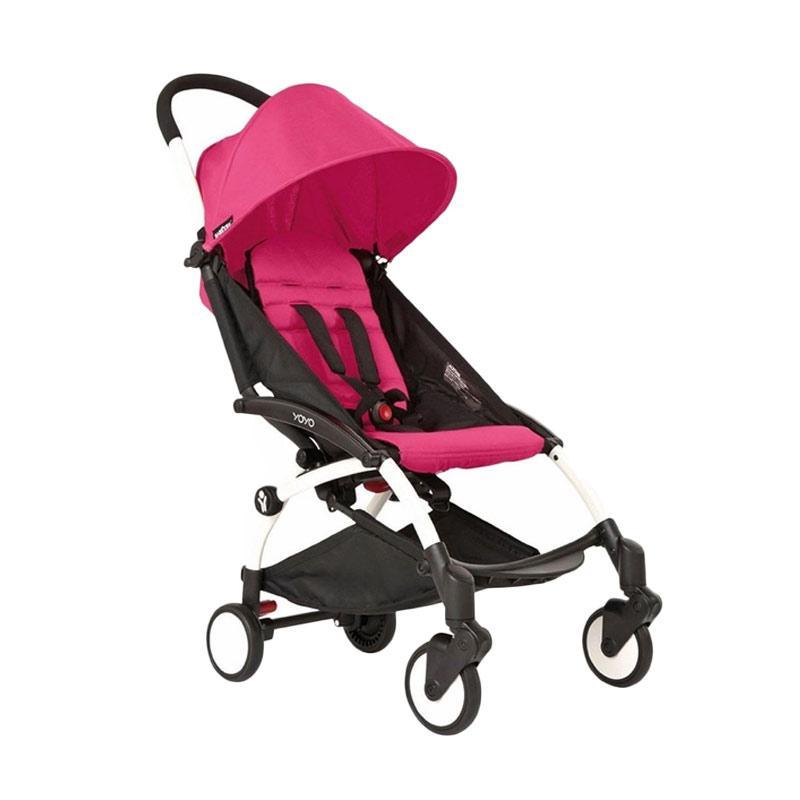 Babyzen Stroller Yoyo+ Frame White New Born Pack 6+ Color Pack Pink