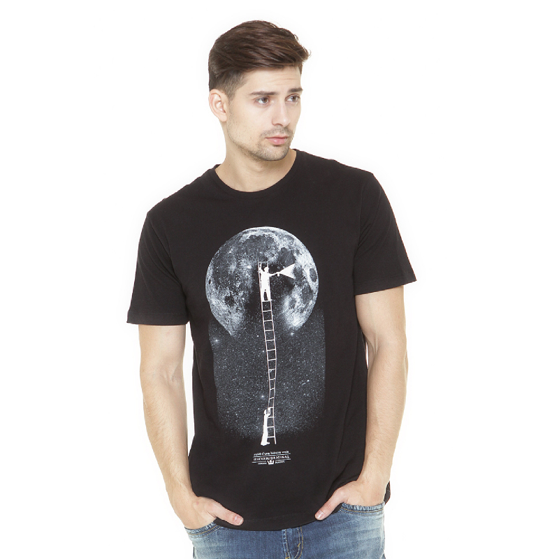 17Seven Moonpaint Men Tshirt Black