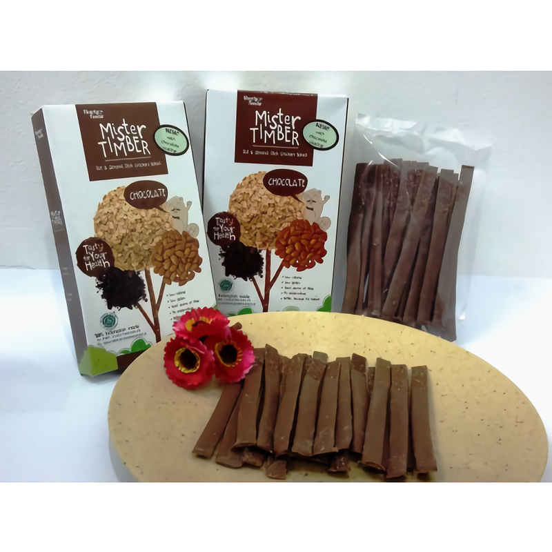 Mister Timber - Mister Timber Double Cracker Choco (With Coating Chocolate) isi 2 box