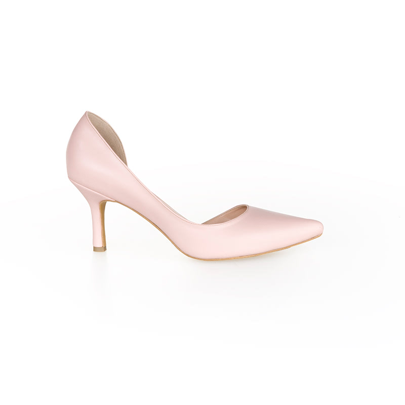 Armira High Heels D-Orsay Pointed Toe Shoes Pink