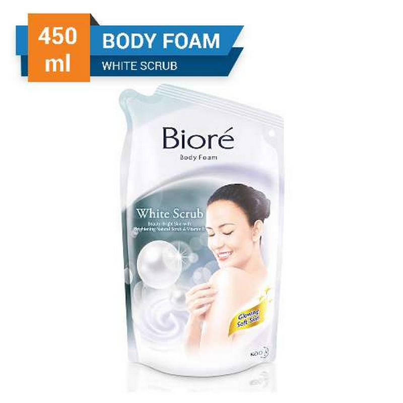 Biore Body Foam White Scrub Pouch 450 ml