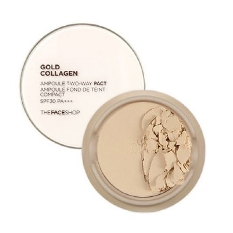 The Face Shop Gold Collagen Ampoule Two Way Pact SPF30 PA+++ No. 201 (Refill)