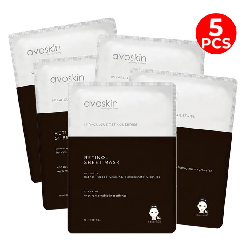 Avoskin Miraculous Retinol Sheet Mask 15gr (5pcs)