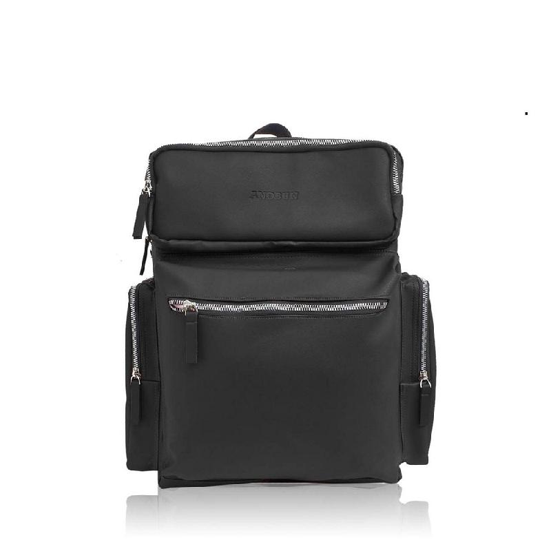 AndBun Backpack Fashion Executive Men Xpack 3.0 Pu Leather Black