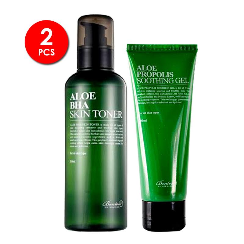 Benton Aloe Bha Skin Toner + Benton Aloe Propolis Soothing Gel