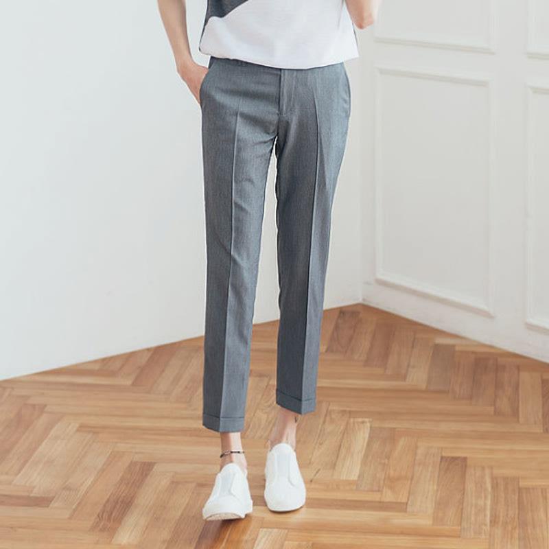 AV_Clean Cuffs Slacks - Grey