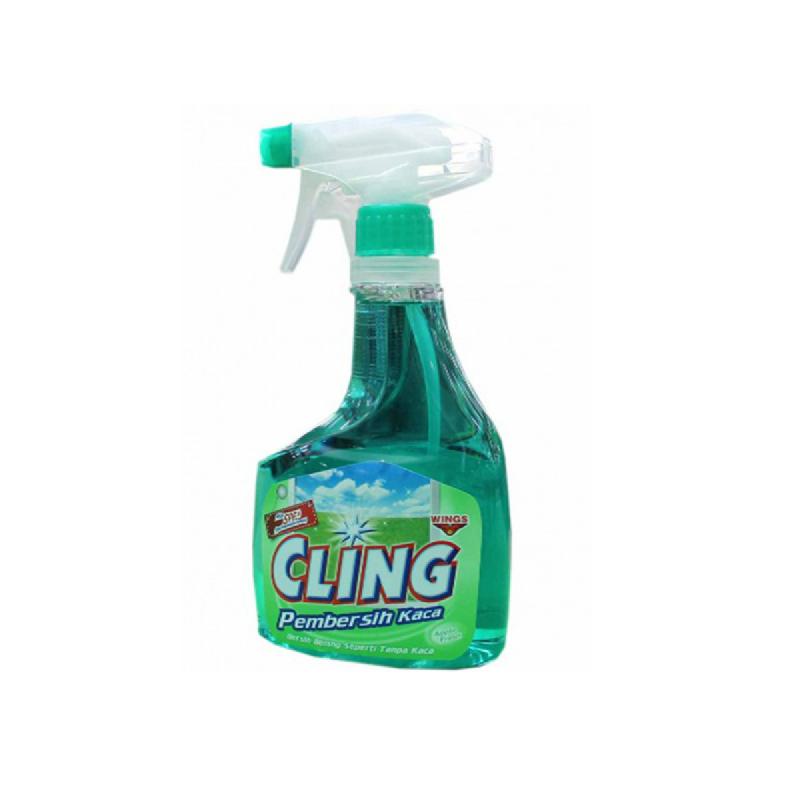 Cling Pembersih Kaca Hijau 425Ml Botol