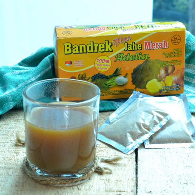 Bandrek Jahe Merah Adelia Kotak 15 gr (isi 20 Pcs)