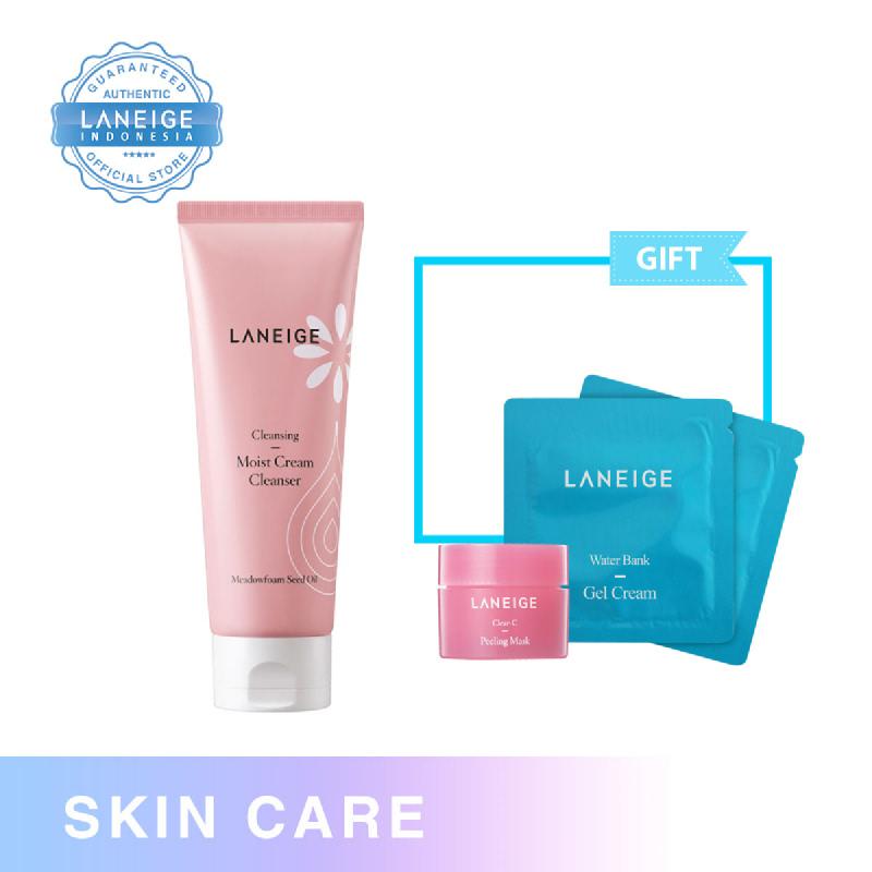 000000479624 Laneige Moist Cream Cleanser 150Ml + Clear C Peeling Mask 15Ml + Water Bank Gel Cream 1Ml
