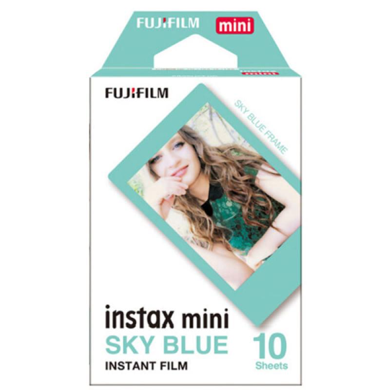 Fujifilm Instax Paper Mini Instant Color Film Biru Frame 10 Sheets