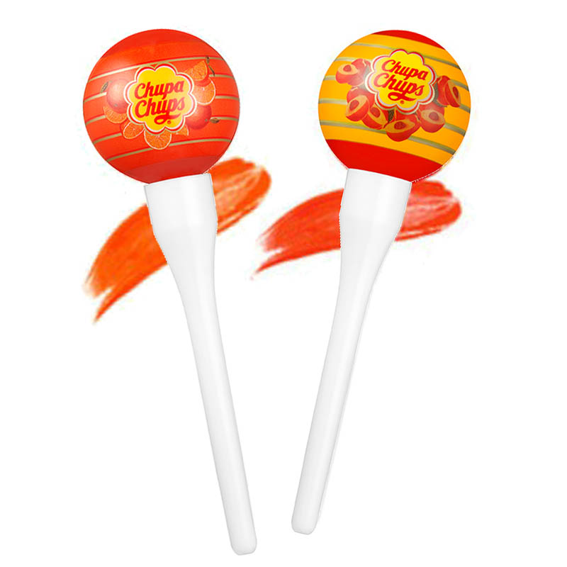 Chupa Chups Lip Locker Orange 7g + Peach 7g
