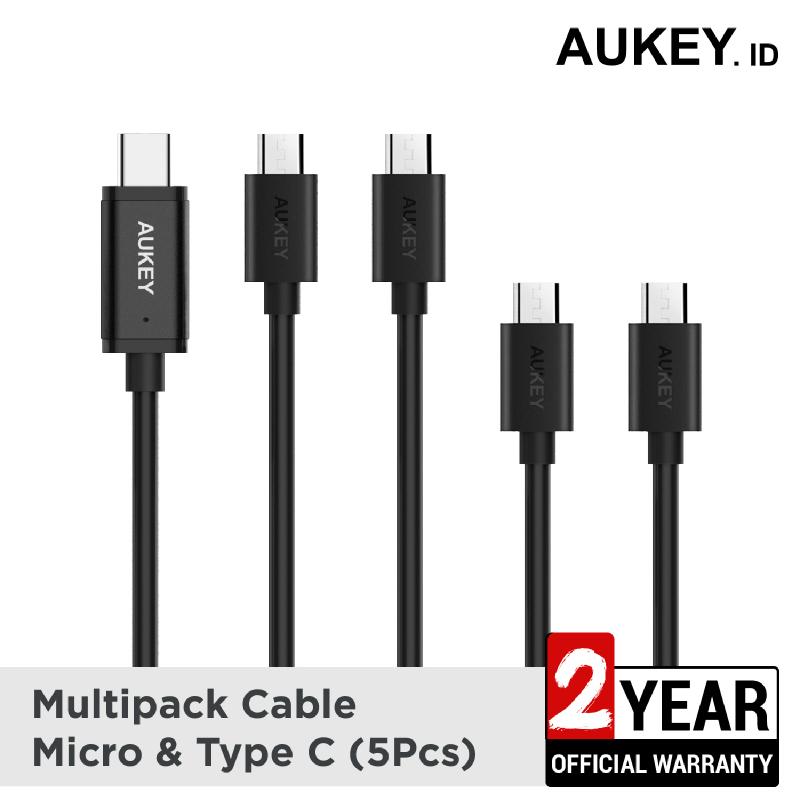 Aukey Cable Micro & USB C 2.0 (5Pcs) - 500260