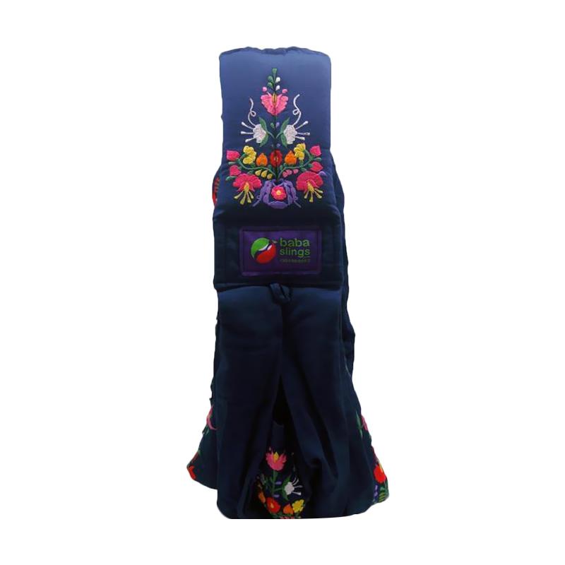 Baba Slings Embroidery Gendongan Bayi - Navy Mexican