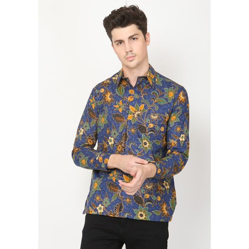 Adinata Batik Pradipta Hem Panjang Blue