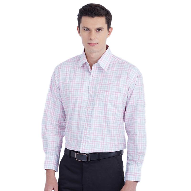 Gianni Paolo Kemeja Lengan Panjang  Fabgp 202 Pink And White Checked