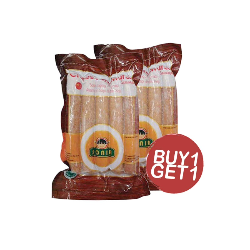 Sonia Sosis Keju Bratwurst 200 Gr (Buy 1 Get 1)