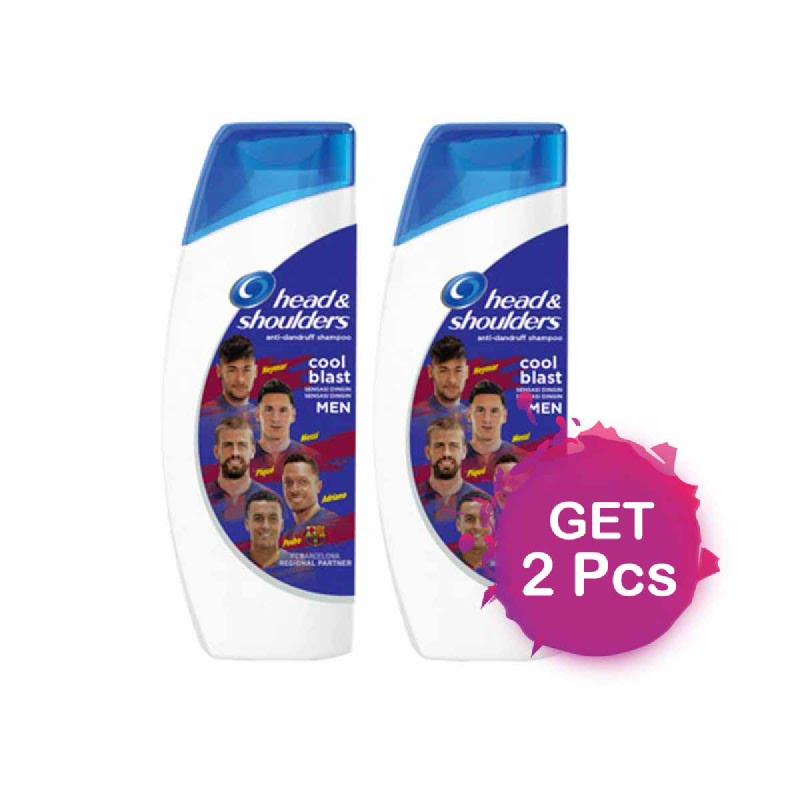 Head & Shoulders Shampoo Fc Barca Cool Menthol 330 Ml (Get 2)