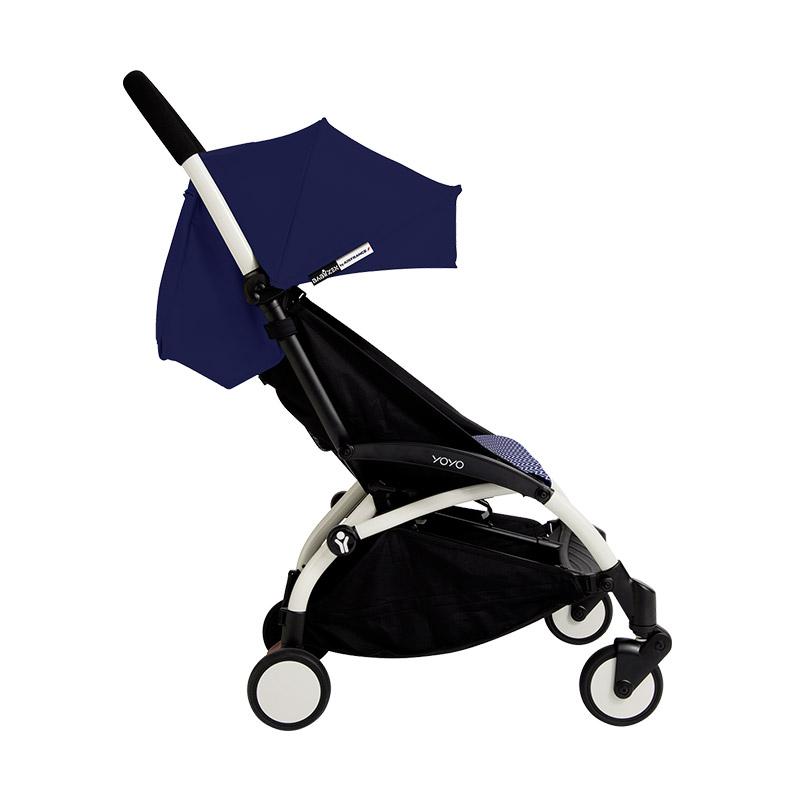 Babyzen Stroller Yoyo+ Frame White New Born Pack 6+ Color Pack Air France Blue