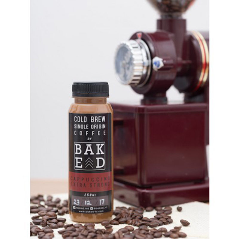 Baked Indonesia - Cappucino Extra Strong Cold Brew Coffee (isi 4 botol)
