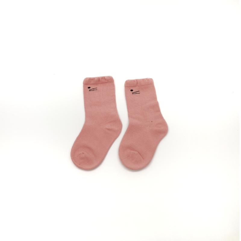 BabyLand Meow Meow Knee High Socks Pink MMP001