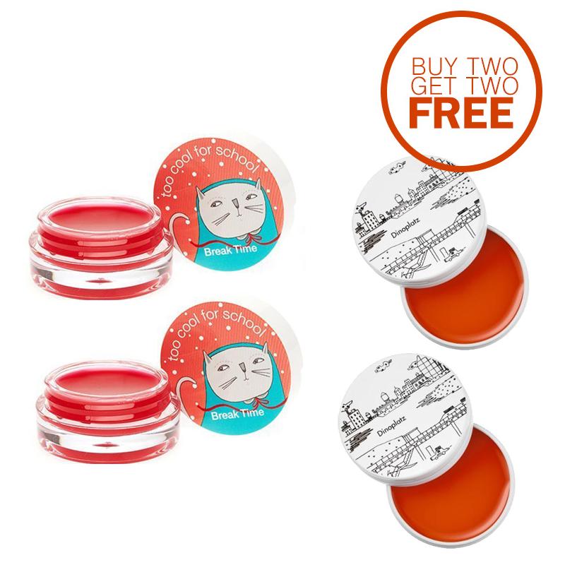 TCFS Buy 2 Get 2 Free Break Time Lip Tint Balm + Dinoplatz Lip Balm