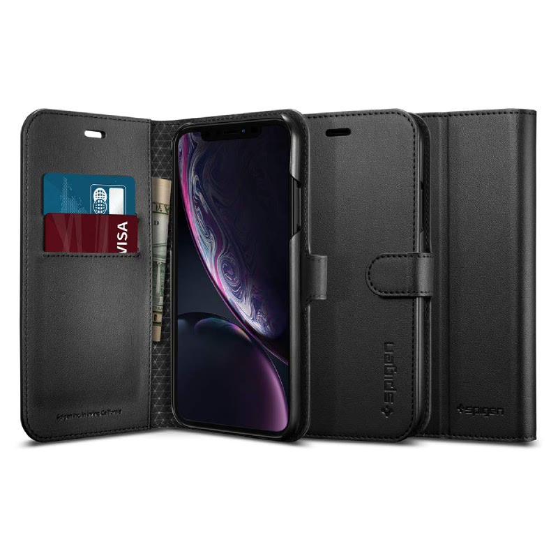 Spigen iPhone XR Case Case Wallet S - Black