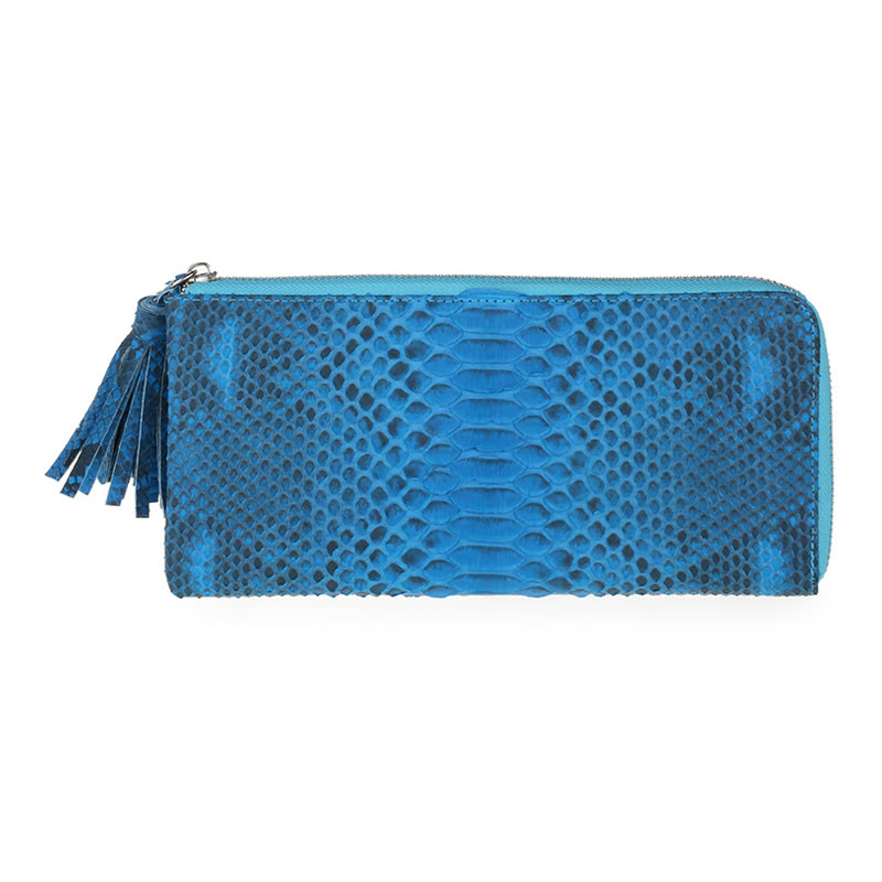 Zipper Purse - Blue Reticulated Phyton