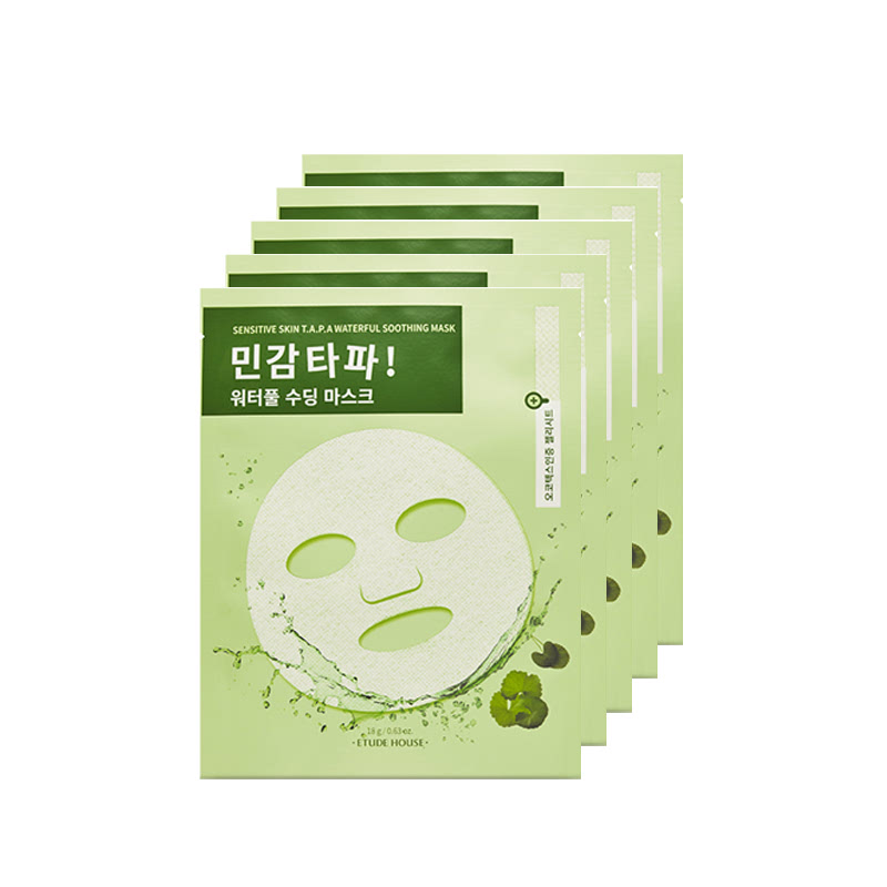 Etude House Sensitive Skin T.A.P.A Waterful Soothing Mask 5Pcs