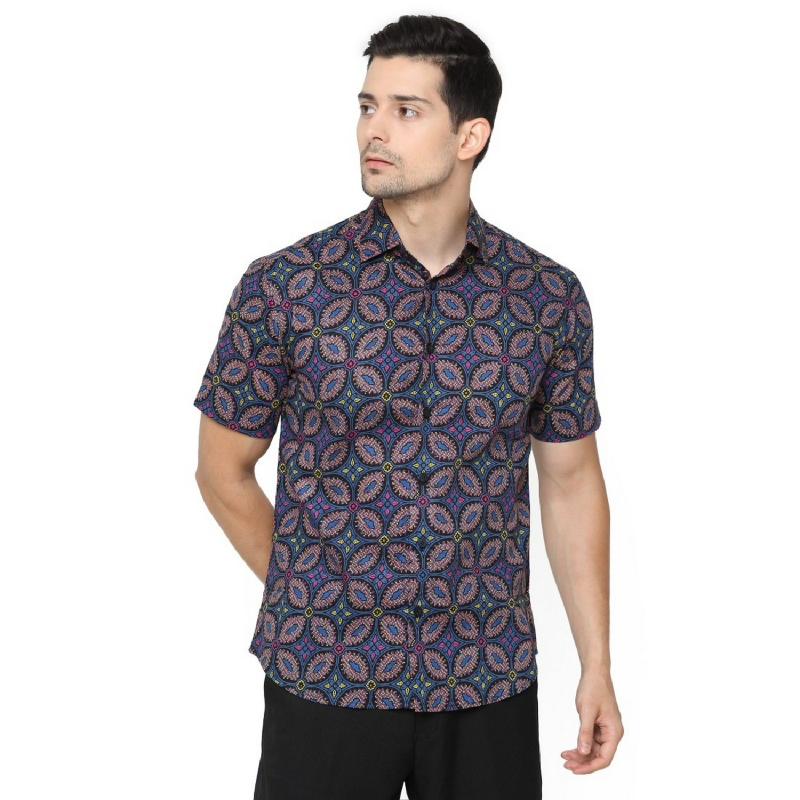 Agrapana Madhuswara Slim Fit Kemeja Batik Print