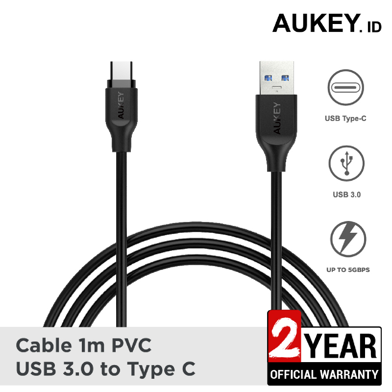 Aukey Cable 1M PVC USB 3.0 A to C - 500199