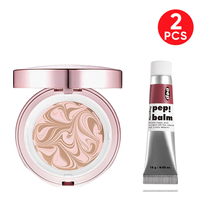 Age 20s Essence Cover Pact Pink Latte - Pink Beige 21 + I'm Meme Pep! Balm 003 Pause