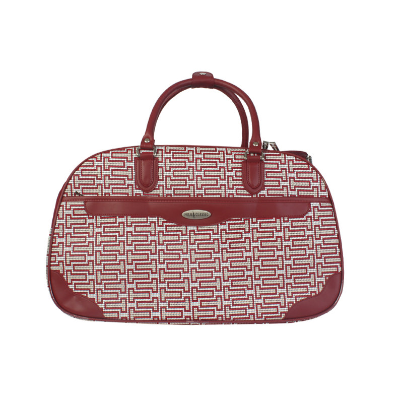 Polo Classic Travel Bag 2045-5 White/Red