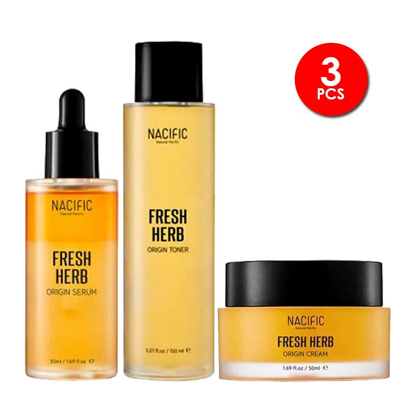 Nacific Fresh Herb Origin Basic Set (Cream 50ml + Serum 50ml + Toner 150ml)