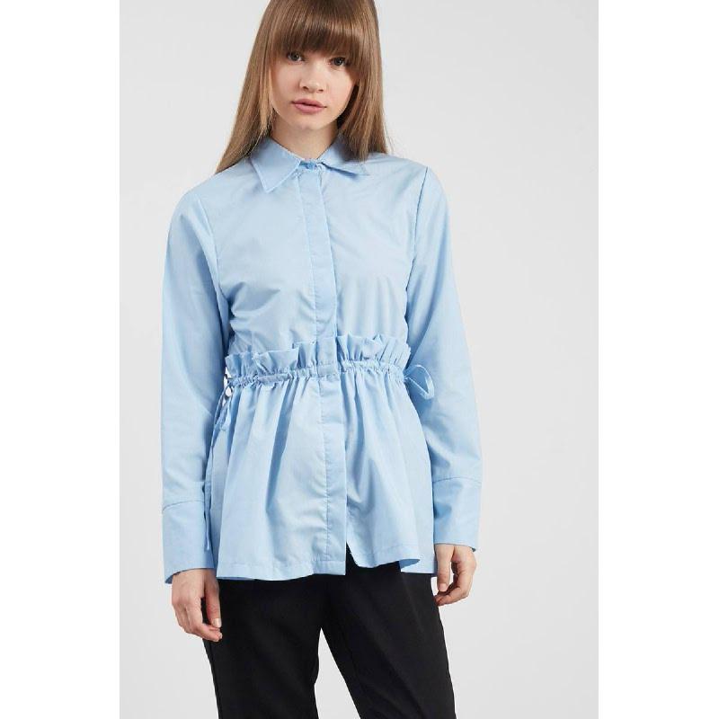 Risella Frilled Shirt Blue