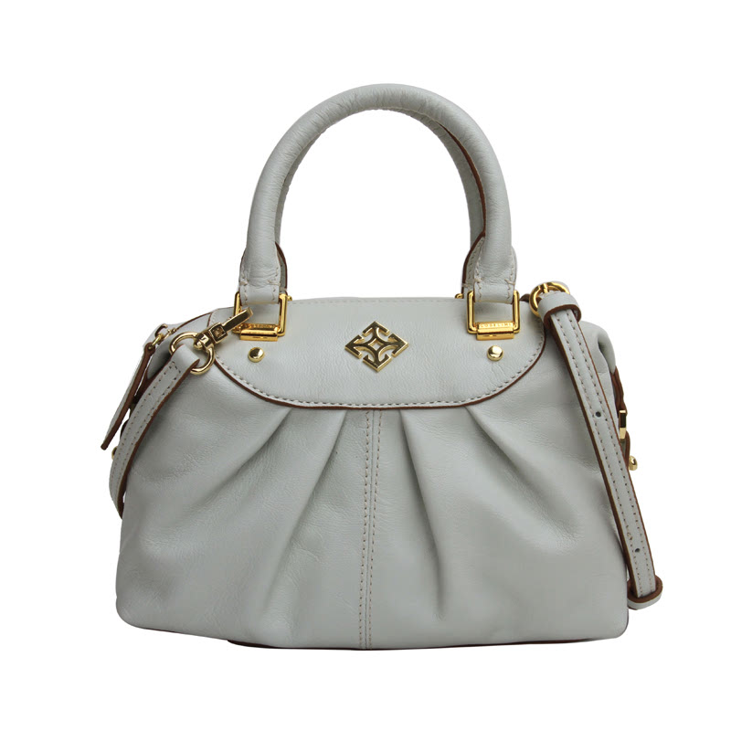 Gobelini W. Ivone Mini Boston Bag White