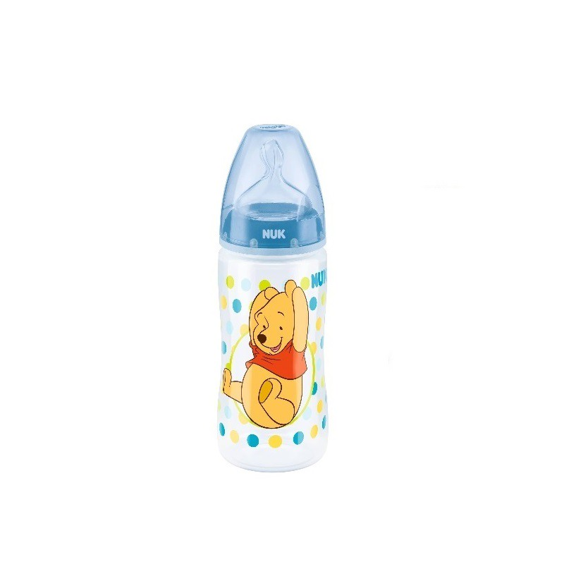 Winnie The Pooh Bottle With Silicone 300ml-Blue