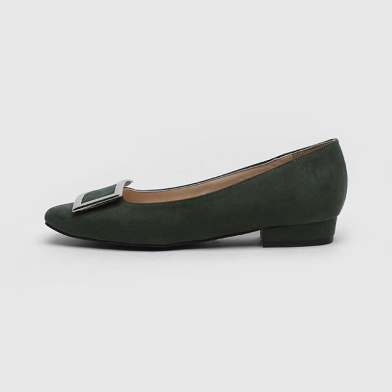 SAPPUN Ezer Run-Flats Square (2cm) - Green Suede