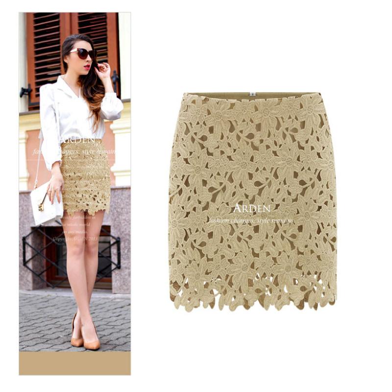 Arden Shuffel Lace Skirts SK0745 -  Beige