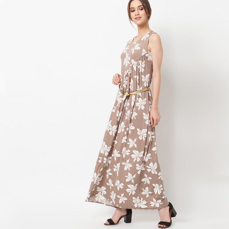 duapola Flower Pastel Loss Maxi Dress