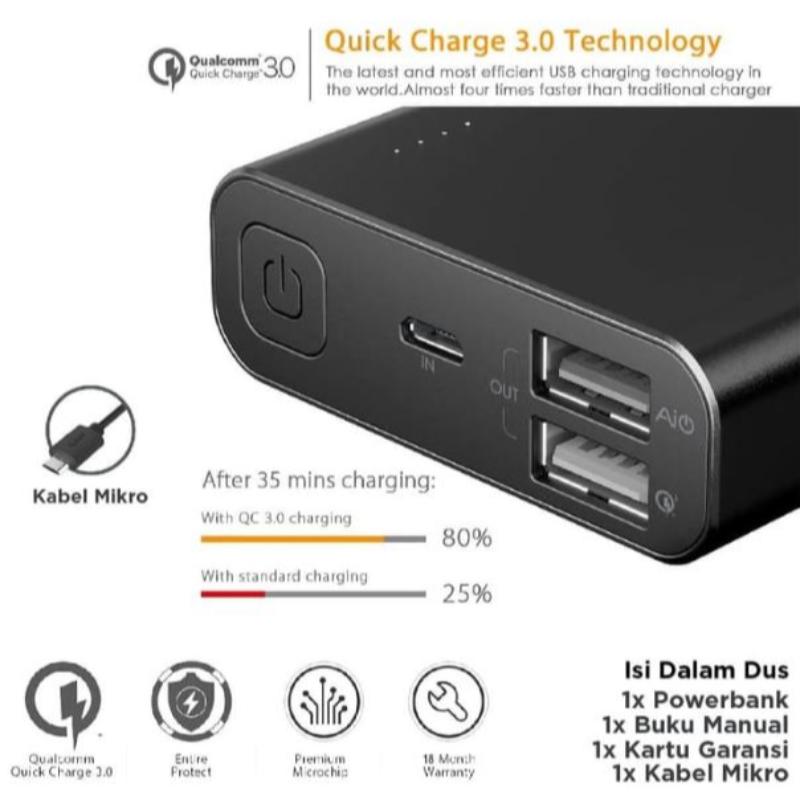 Aukey Powerbank 20100 mAh QC 3.0 & AiQ - 500160