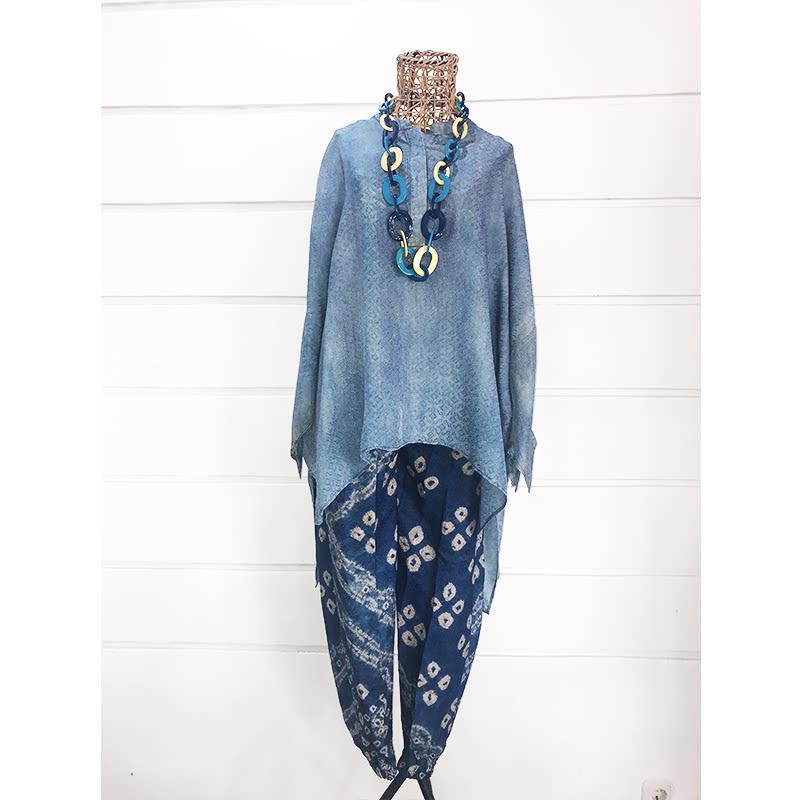 Batik Chic Celana Karet Jumoutan Biru