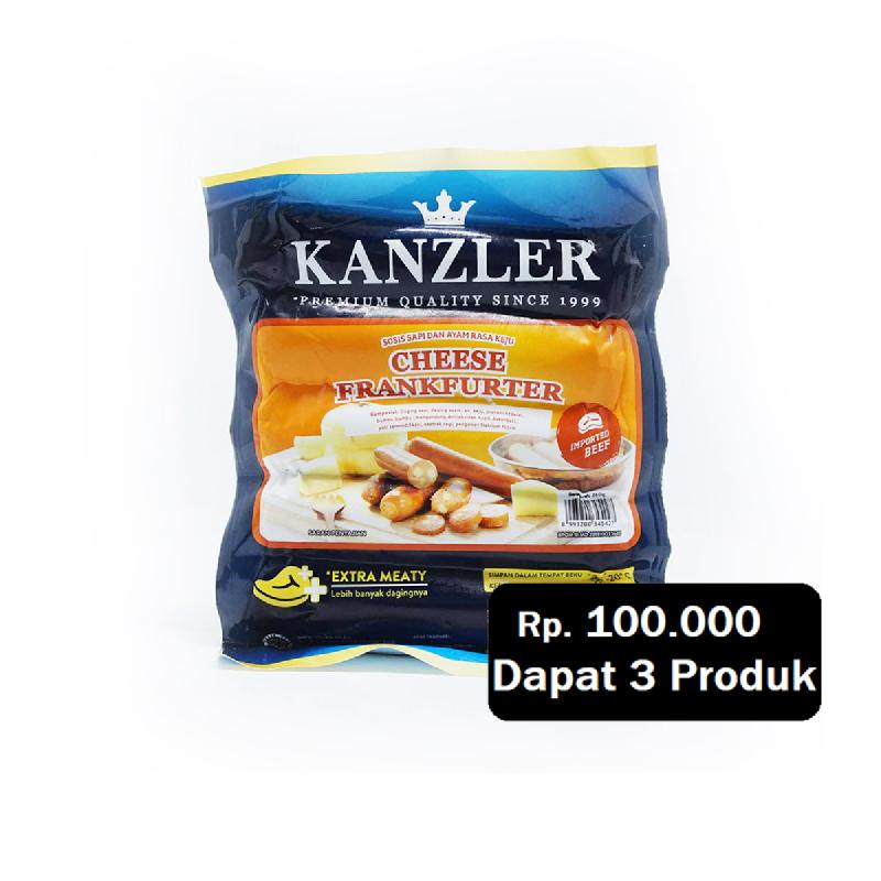 Kanzler Cheese Frankfurter 360 Gr (Rp. 100.000 Dapat 3)