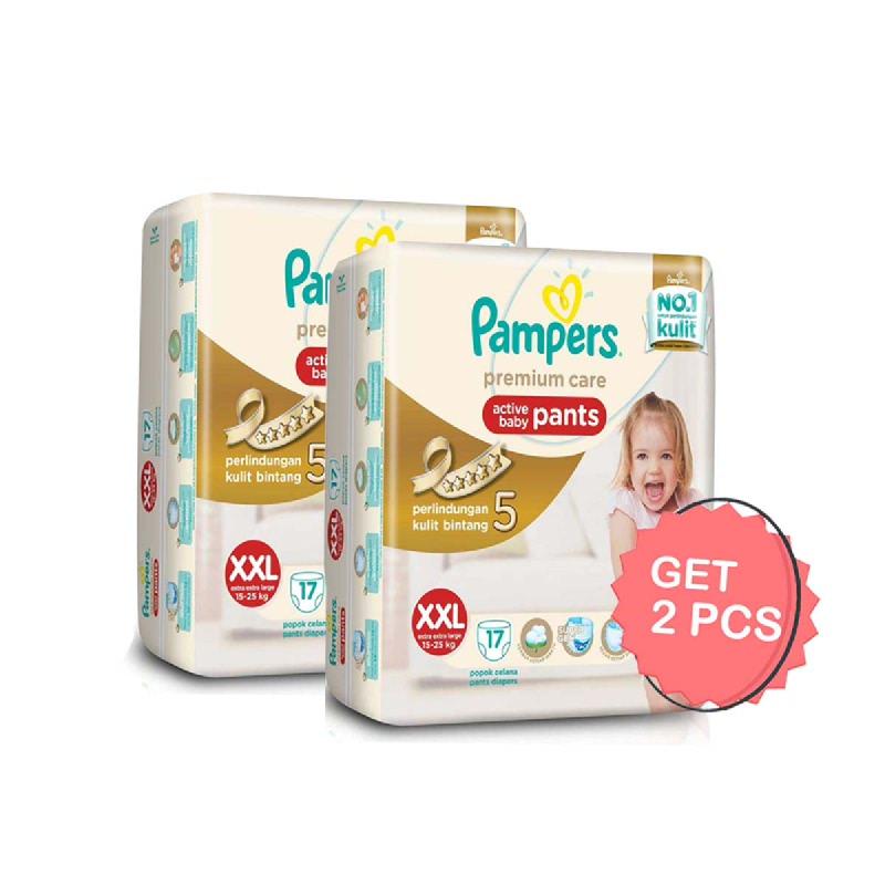 Pampers Premium Active Baby Diaper Pants XXL 17S (Get 2)
