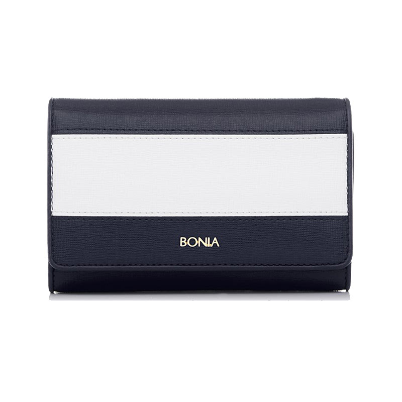 Bonia Wallet The Line Zipper - Dark Blue