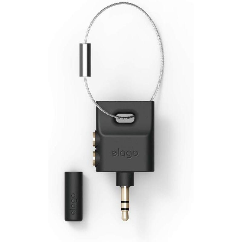 Elago Keyring Headphone Splitter - Black