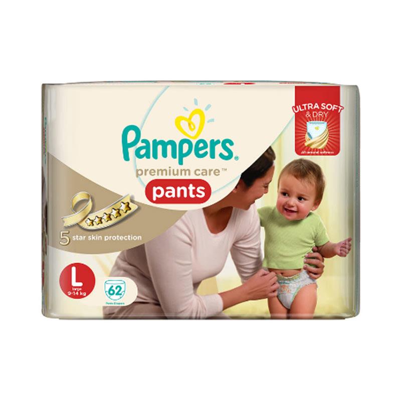 Pampers Premium Active Baby Diaper Pants Sjumbo L 62S