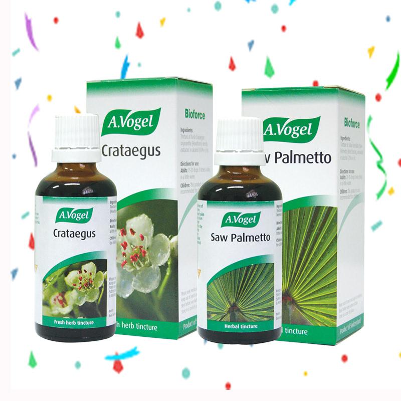 A. Vogel Crataegus 100 ml + A.Vogel Saw Palmetto 50 ml